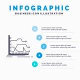 Strza?y, wykres, rynek, przepowiedni Infographics szablon dla strony internetowej i prezentacja, przedni, glif Szara ikona z b??k ilustracji
