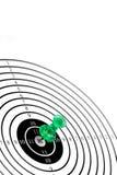 strzałki szpilki celem zielone Zdjęcia Stock