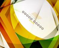 Strzałkowatego Geometrycznego kształta Abstrakcjonistyczny Biznesowy tło Zdjęcia Stock