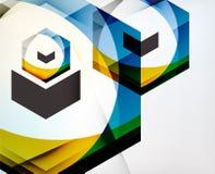 Strzałkowatego Geometrycznego kształta Abstrakcjonistyczny Biznesowy tło Fotografia Stock
