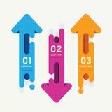 Strzałkowatych wektorowych sztandarów etykietek tasiemkowy kolorowy styl Zdjęcia Royalty Free
