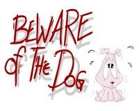 strzeż się psa. ilustracja wektor