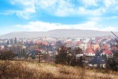 Strzegom, άποψη από το Hill του σταυρού Στοκ φωτογραφία με δικαίωμα ελεύθερης χρήσης