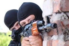 strzela żołnierzy target2200_0_ dwa Obrazy Stock