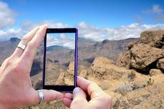 Strzelać Granu Canaria góry Fotografia Stock
