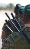 strzela nowożytnych żołnierzy Zdjęcie Royalty Free