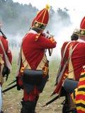 strzelają brytyjski żołnierz. Obrazy Stock