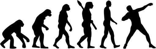 Strzelająca stawiająca ewolucja ilustracja wektor