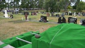 Strzelający cmentarz dla żałobnego pogrzebu zbiory