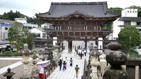Strzelający Japońska anicent świątynia zbiory