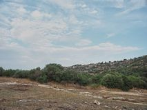 Strzelający wiejski środowisko w Cava, Rosolini, Włochy - zdjęcia stock