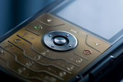 strzelający strzelać zamknięty telefon komórkowy Zdjęcie Royalty Free