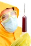 strzykawka naukowych laboratorium obrazy stock