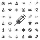 Strzykawki ikona Zdjęcia Stock