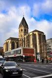 Sts Andrew kyrka i Cologne Arkivfoto