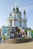 Sts Andrew kyrka i Kyiv Arkivbilder