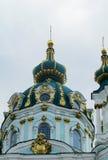 Sts Andrew kyrka, Kiev, ortodox kyrka Arkivfoto