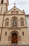 Sts Cyril and Methodius church (1880). Zagreb, Croatia. Church of Saints Cyril and Methodius (circa 1880) in Cirilometodska street of historic Upper Town in Royalty Free Stock Photos