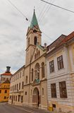 Sts Cyril and Methodius church (1880). Zagreb, Croatia. Church of Saints Cyril and Methodius (circa 1880) in Cirilometodska street of historic Upper Town in Stock Photos