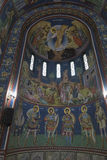 Sts Cyril och Methodius kyrkainre i Ljubljana Fotografering för Bildbyråer