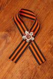 Sts George band och beställning av det patriotiska kriget i St-symboler av segern Royaltyfria Bilder