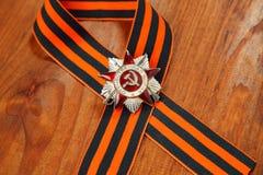 Sts George band och beställning av det patriotiska kriget i St-symboler av segern Royaltyfri Bild
