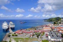 Sts George hamn i Grenada Arkivfoton