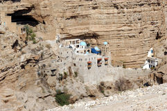 Sts George kloster i den Judea öknen Israel arkivbild