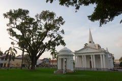 Sts George kyrka - George Town, Penang, Malaysia arkivbilder