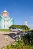 Sts George (Yuriev) kloster i Veliky Novgorod, Ryssland Fotografering för Bildbyråer