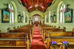 Sts John kyrka i Richmond, Tasmanien Arkivbilder