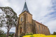 Sts John kyrka i Richmond, Tasmanien Arkivfoton