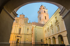 Sts. Johns' Church in Vilnius after rain Royalty Free Stock Images