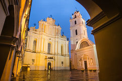Sts. Johns' Church in Vilnius after rain Royalty Free Stock Image