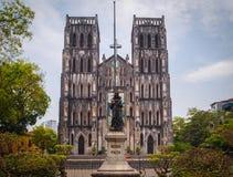Sts Joseph domkyrka, Hanoi, Vietnam royaltyfria bilder