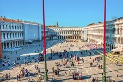 Sts Mark mosaisk piazza Venedig Italien för basilika Arkivfoton