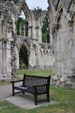 Sts Mary abbotskloster, York, Förenade kungariket Fotografering för Bildbyråer