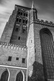 Sts Mary domkyrka i gammal stad av Gdansk Arkivbild