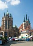 Sts Mary domkyrka och kyrka för St Severus, Erfurt, Tyskland Royaltyfri Fotografi