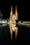 Sts Mary domkyrka Sydney Madonna och barnjul Arkivbilder
