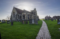 Sts Mary kyrka, Goudhurst, Kent, UK arkivbilder