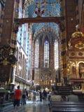 Sts Mary kyrka i Krakow Royaltyfri Bild