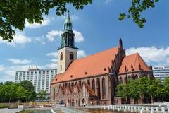 Sts Mary kyrka (Marienkirche), Berlin, Tyskland Arkivfoto