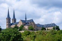 Sts Michael abbotskloster, Bamberg Tyskland Arkivbild