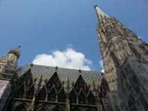 Sts Michael domkyrka, Wien, Österrike Arkivfoto