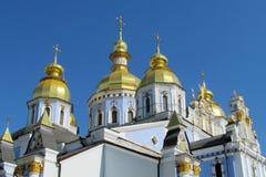 Sts Michael Golden Dome kloster i Kiev Royaltyfri Foto