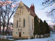 Sts Michael gotiska kyrka, Cluj Napoca, Rumänien Arkivbilder