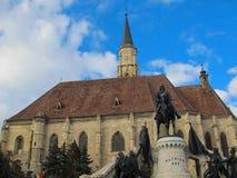 Sts Michael gotiska kyrka, Cluj Napoca, Rumänien Arkivfoto