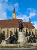 Sts Michael gotiska kyrka, Cluj Napoca, Rumänien Royaltyfri Fotografi