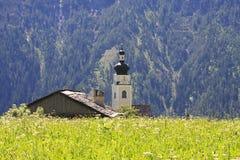 Sts Michael kyrka i Unterried, Österrike Royaltyfria Foton